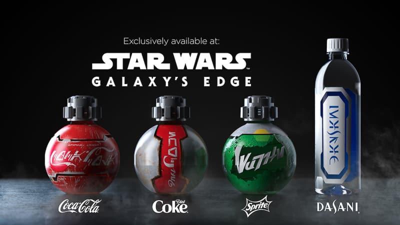 Coca Cola bottles in Star Wars Galaxy's Edge