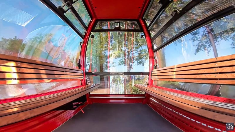 Disney Skyliner Gondola Interior First Look