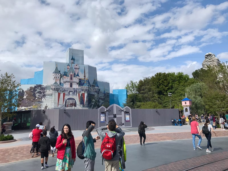 Disneyland Castle Refurb