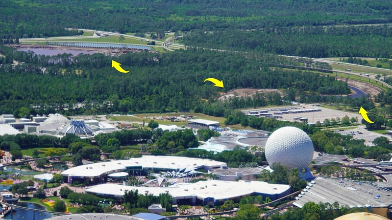 Epcot Entrance Construction Updates April 2019 water management
