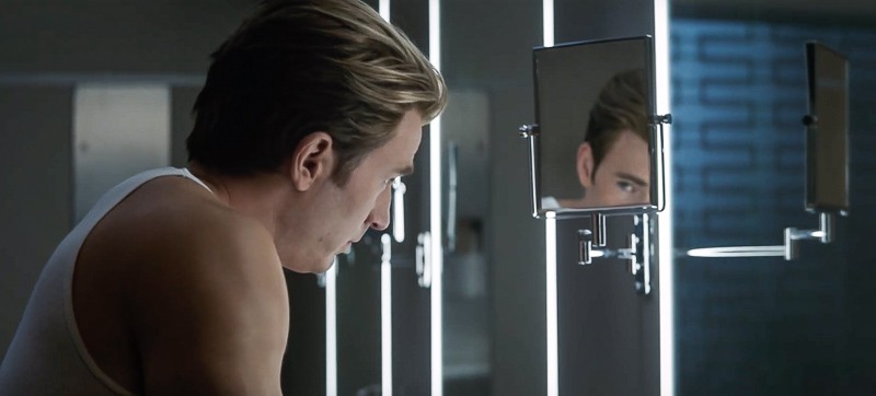 Avengers End Game trailer Steve Rogers looking in the mirror