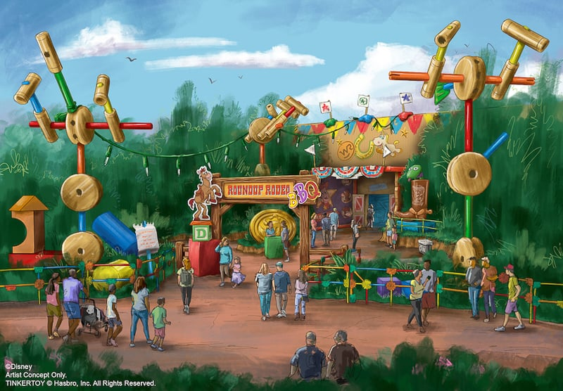 Roundup Rodeo BBQ Concept Art