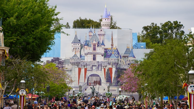 Front of Sleeping Beauty Castle in Disneyland May 2019