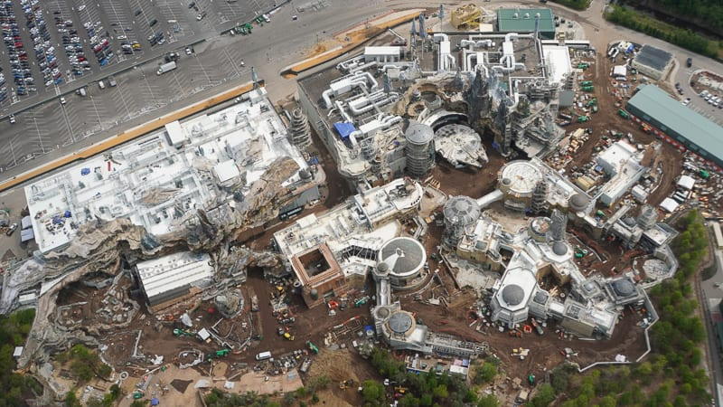 Paving Started in Star Wars Galaxy's Edge Construction ...