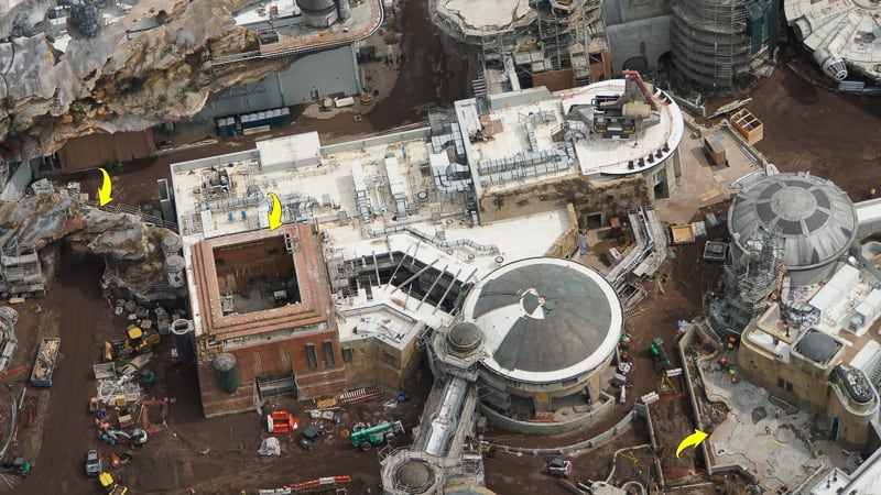 Star Wars Galaxy's Edge Construction Update April 2019 Docking Bay 7 details