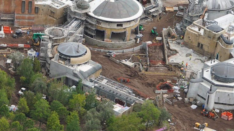 Star Wars Galaxy's Edge Construction Update April 2019 near Toy Story Land