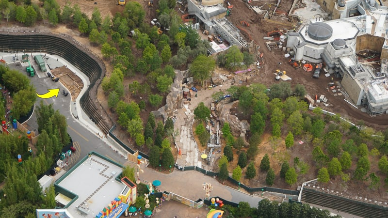 Star Wars Galaxy's Edge Construction Update April 2019 Toy Story Land entrance
