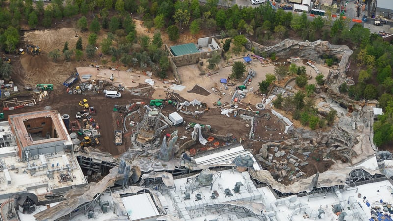 Star Wars Galaxy's Edge Construction Update April 2019 entrance to Star Wars Land