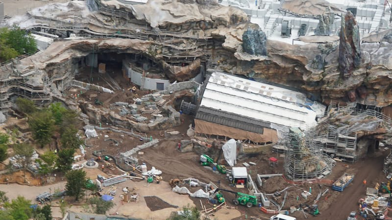 Star Wars Galaxy's Edge Construction Update April 2019 front of Rise of the Resistance