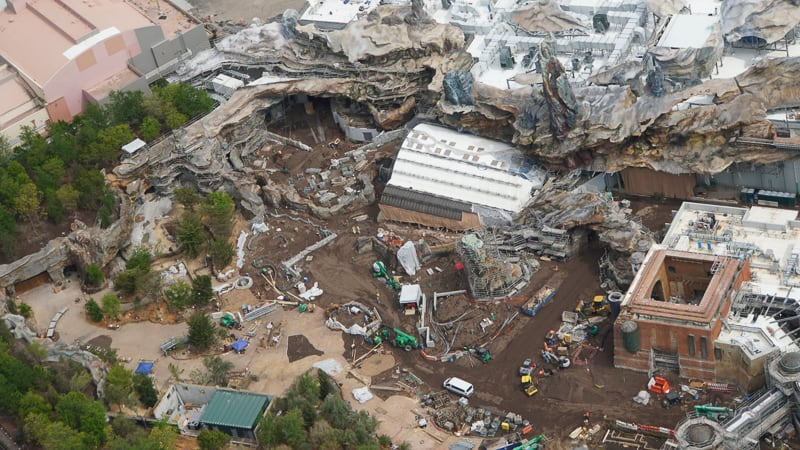 Star Wars Galaxy's Edge Construction Update April 2019 Rise of the Resistance entrance