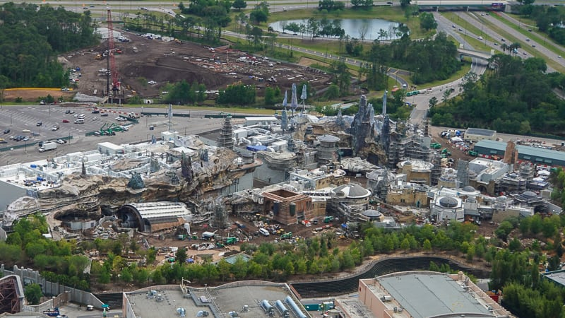 Star Wars Hotel Aerial View update April 2019