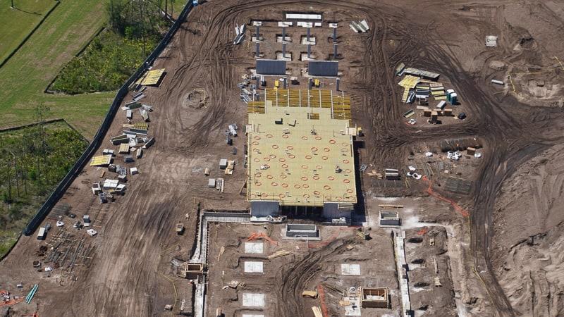 Star Wars Hotel Construction Update April 2019 building footprint