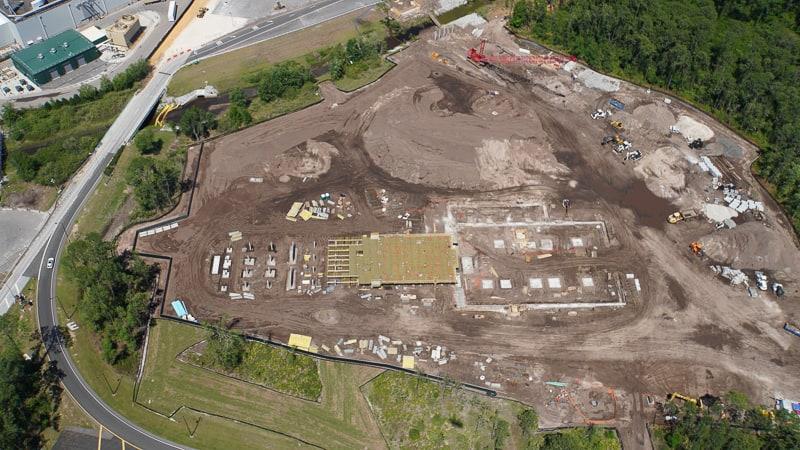 Star Wars Hotel Construction Update April 2019 building site