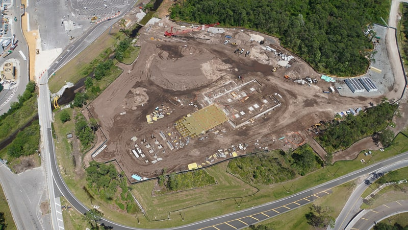 Star Wars Hotel Construction Update April 2019 aerial