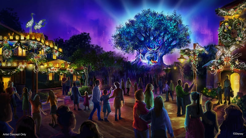 Animal Kingdom Holiday Festival Concept Art night