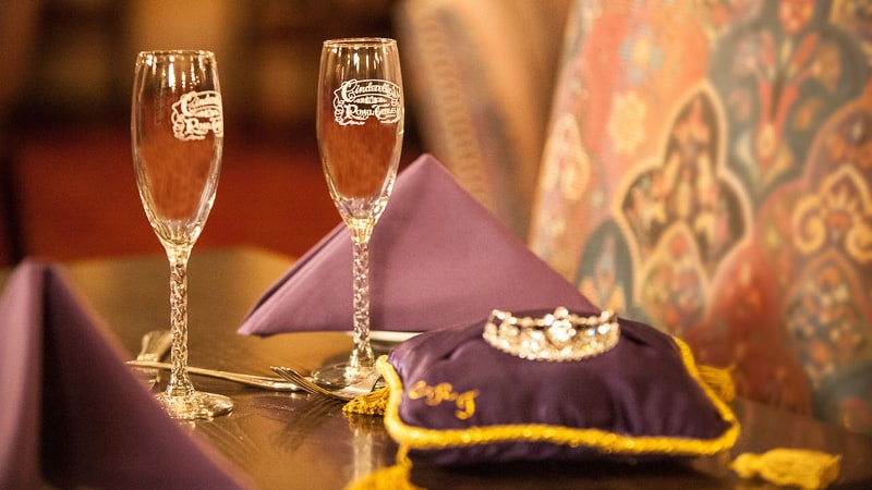 Cinderella's Royal Table Signature Celebration Package drinks