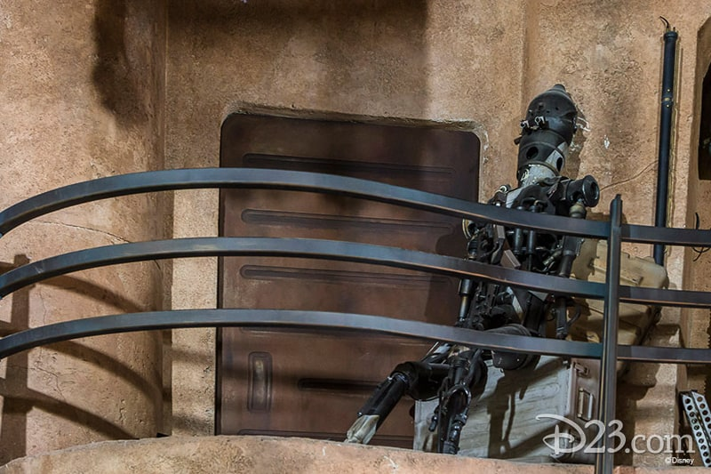D23 Star Wars Galaxy's Edge Photos Theming Details droid