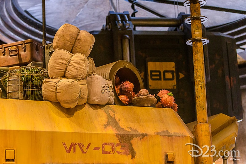 D23 Star Wars Galaxy's Edge Photos Theming Details Easter eggs Empire Strikes Back