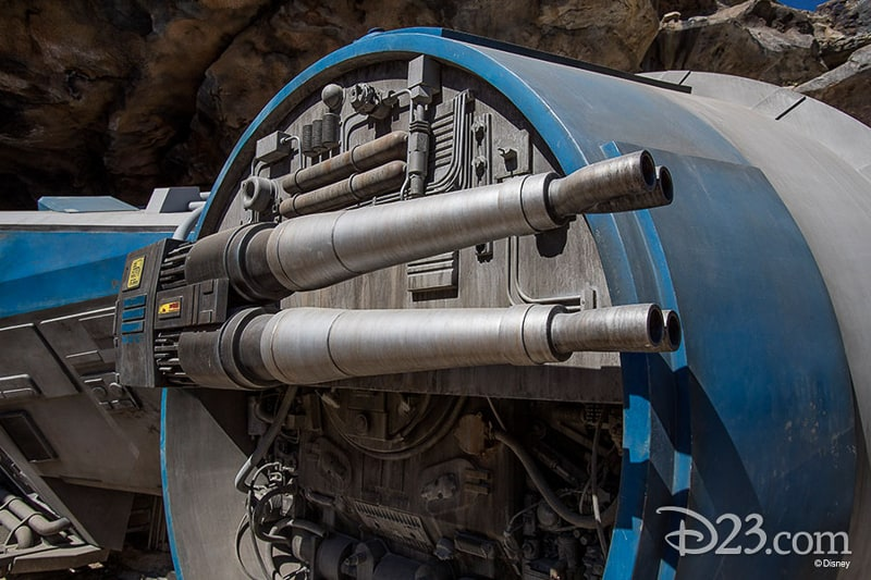 Shuttle Rise of the Resistance D23 Star Wars Galaxy's Edge Photos Theming Details