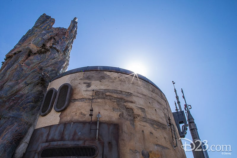 D23 Star Wars Galaxy's Edge Photos sun over roof