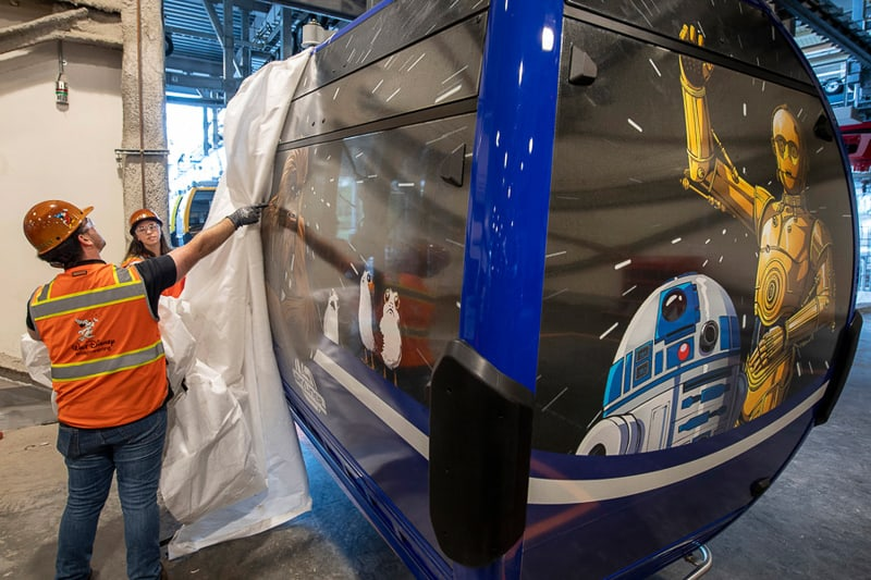 Disney Skyliner Gondolas Disney-themed first look Star Wars