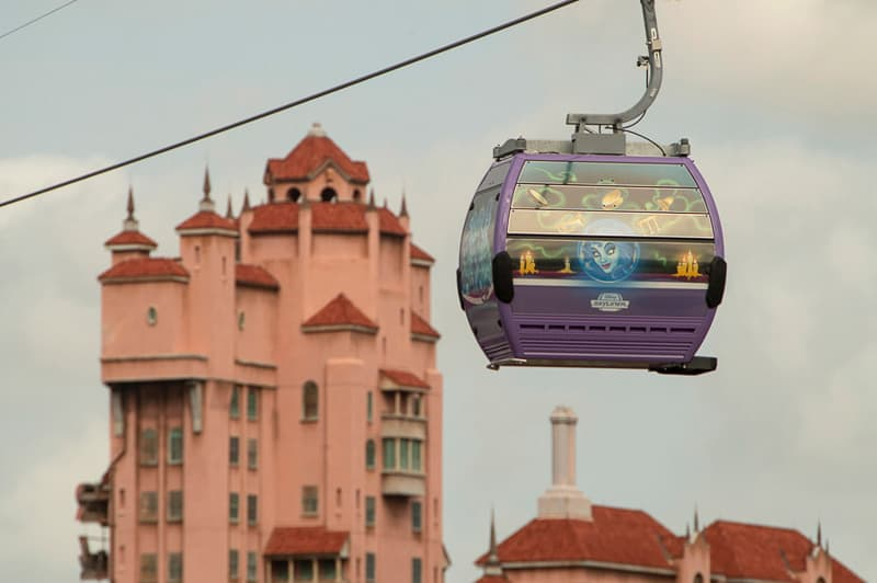 Disney Skyliner Gondolas Disney-themed first look