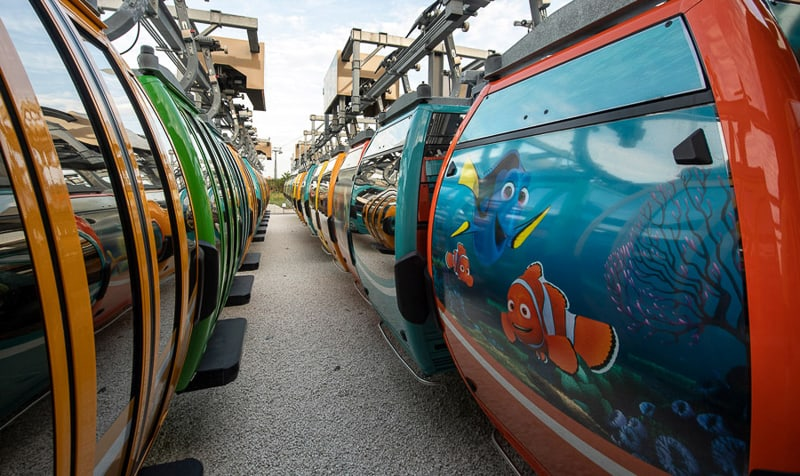 Disney Skyliner Gondolas Disney-themed first look nemo and friends