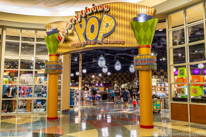 Everything POP Dining and Shopping entrance Pop Century