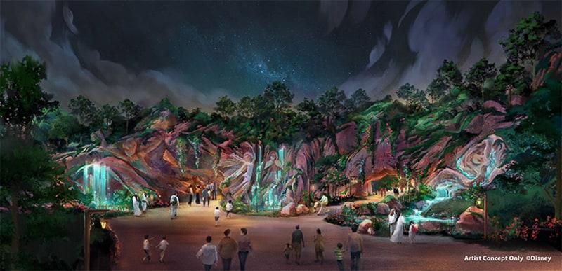 Fantasy Springs Tokyo DisneySea entrance night