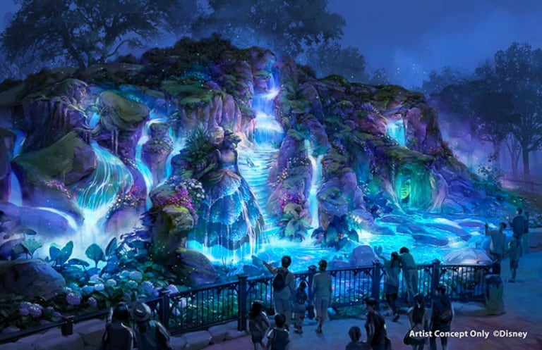 Fantasy Springs Tokyo DisneySea right side entrance night