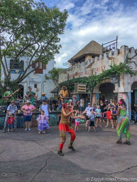 African Street Party in Harambe Village in Africa Animal Kingdom