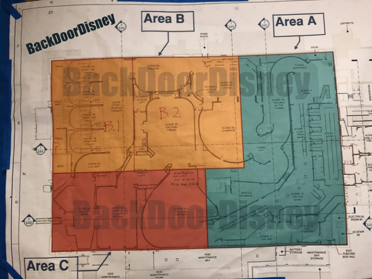 Mickey and Minnie's Runaway Railway ride layout leaked