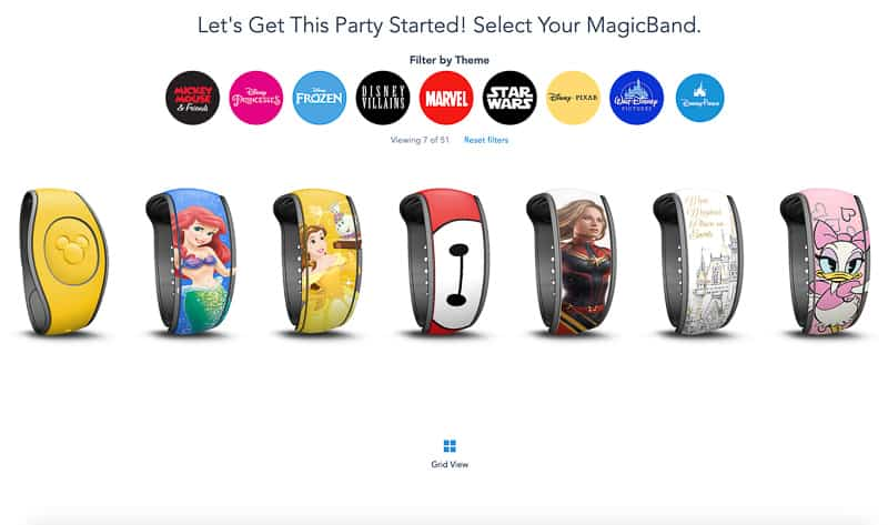 New MagicBand upgrades now available different styles