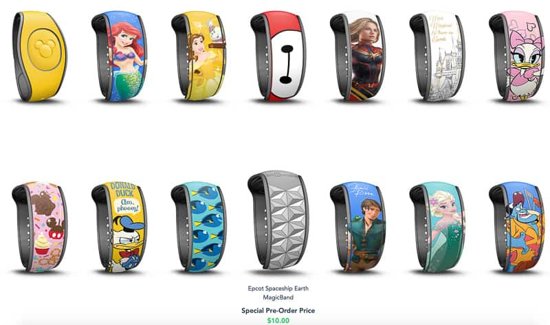 New MagicBand upgrades choices 1
