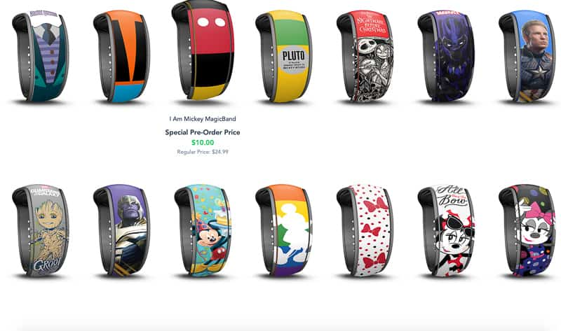 New MagicBand upgrades choices 2