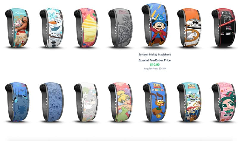 New MagicBand upgrades choices 3