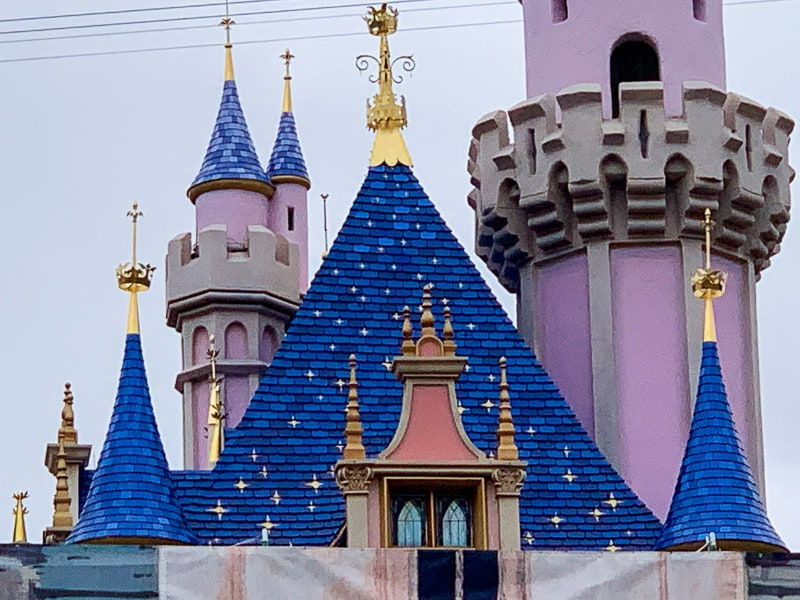 sleeping beauty castle refurbishment may 2019 roof