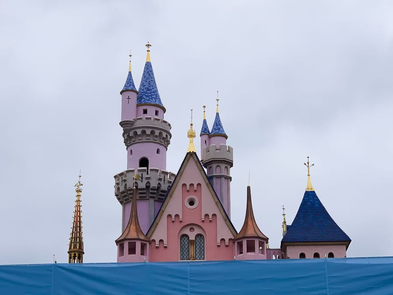 sleeping beauty castle refurbishment may 2019 spires