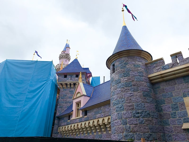 sleeping beauty castle refurbishment may 2019 walls
