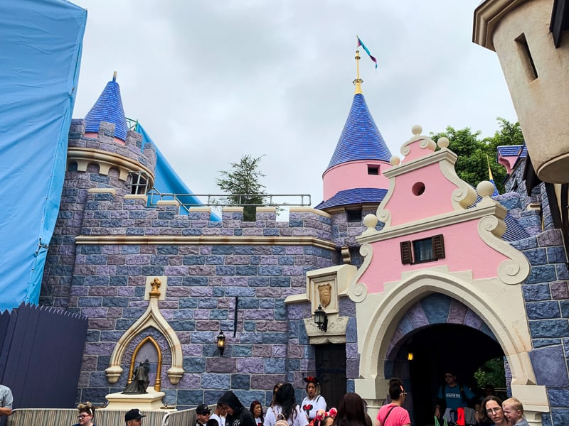 sleeping beauty castle refurbishment may 2019 back