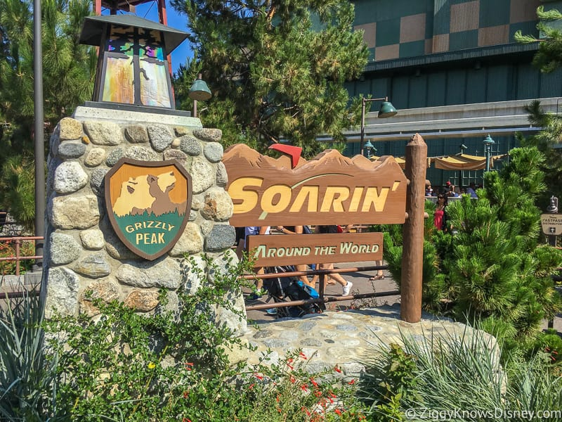 Soarin Around the World Sign Disney California Adventure