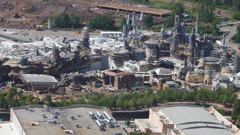 Star Wars Galaxy's Edge Construction Updates May 2019 look at Galaxy's Edge