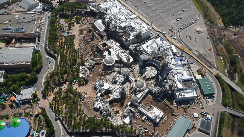 Star Wars Galaxy's Edge Construction Updates May 2019 Aerial