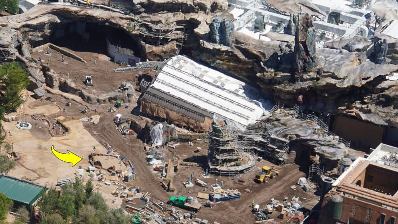 Star Wars Galaxy's Edge Construction Updates May 2019 Rise of the Resistance Tree