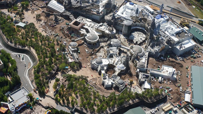 Star Wars Galaxy's Edge Construction Updates May 2019 Black Spire Outpost