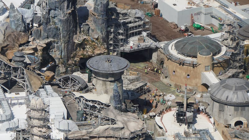Star Wars Galaxy's Edge Construction Updates May 2019 scaffolding