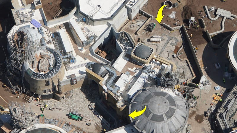 Star Wars Galaxy's Edge Construction Updates May 2019 pavement