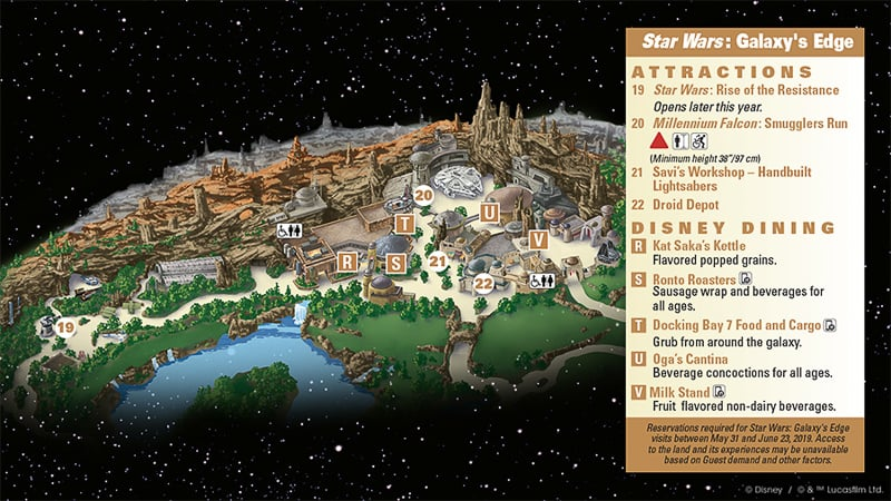 Star Wars Galaxy's Edge Map Disneyland