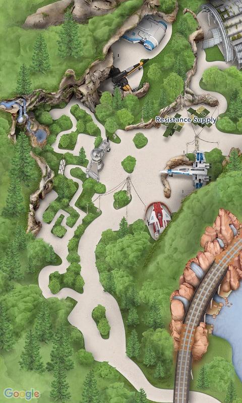 Star Wars Galaxy's Edge Map Disneyland App Rise of the Resistance