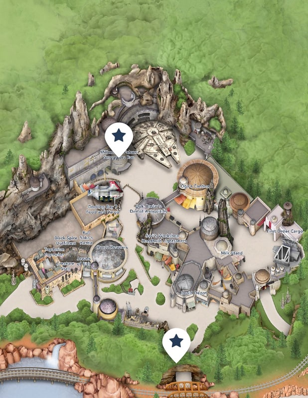 Star Wars: Galaxy's Edge Map and New Disneyland Guidemap Debut on